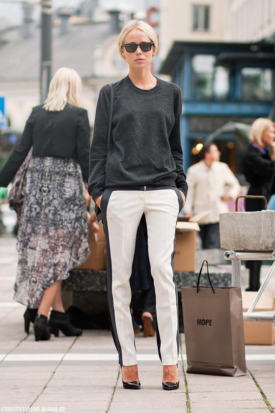 pantalones raya lateral