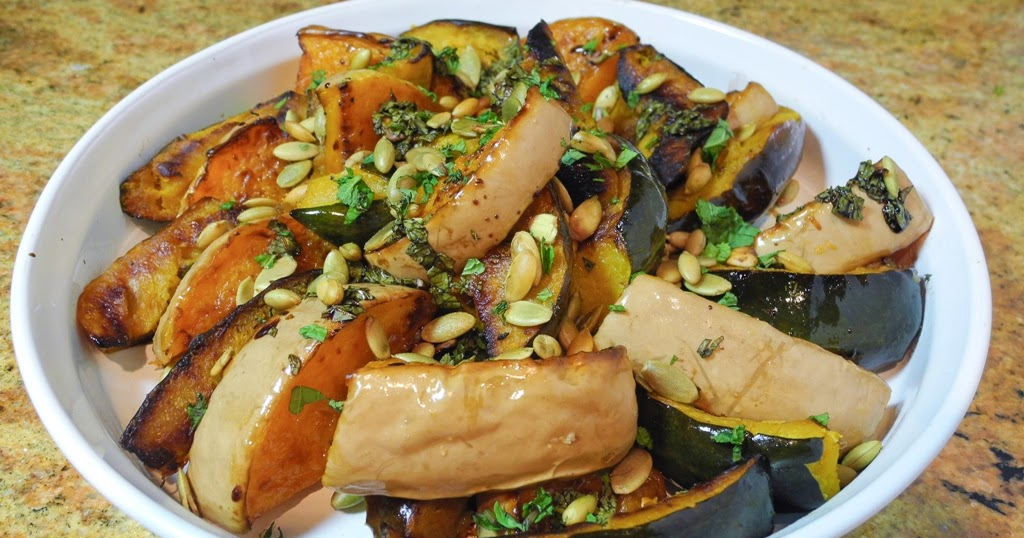Recipe for Roasted Squash with Mint and Toasted Pumpkin ...