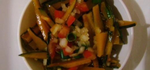 Salada de casaca de abóbora