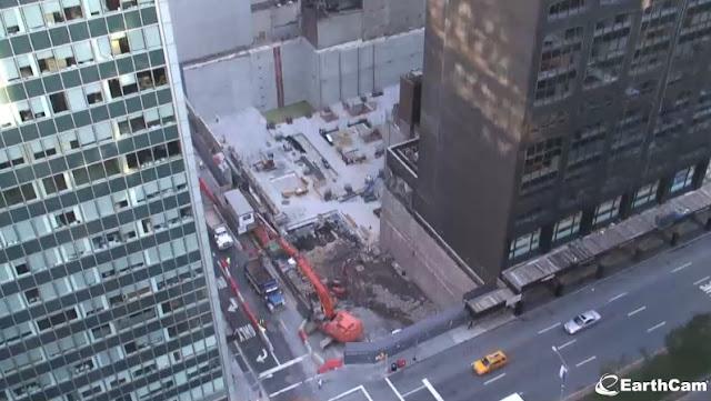 Photo of 432 park avenue construction site from webcam at Park Avenue