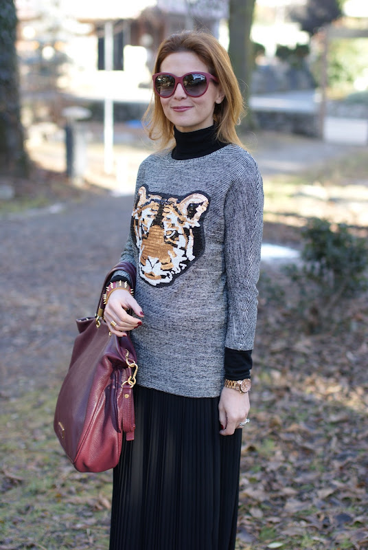 tiger head sweater, black, Fashion and Cookies