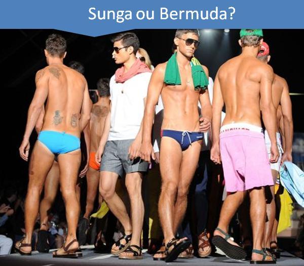 Moda Masculina Inter Para Homens Sunga Bermuda