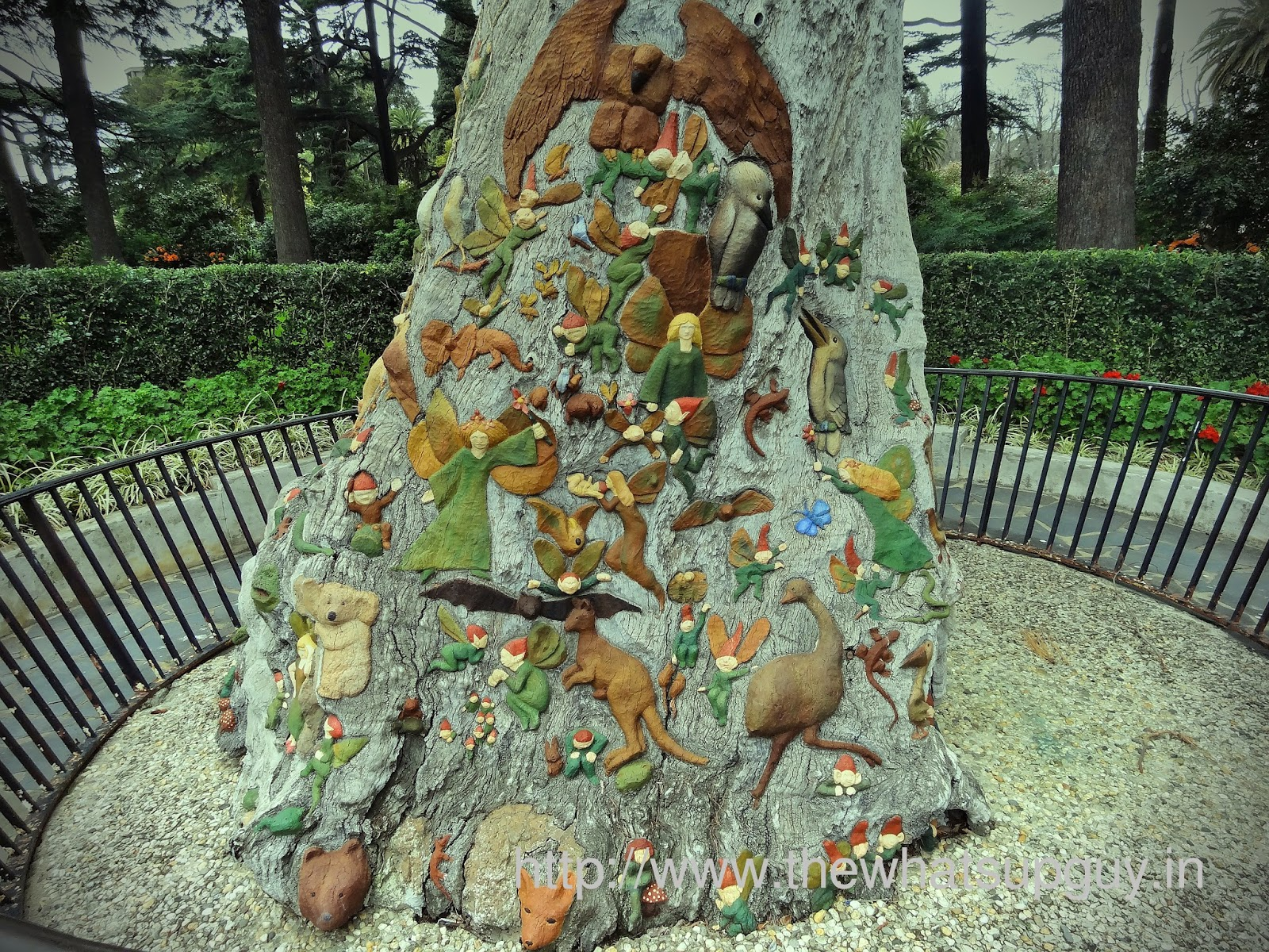 Fritzroy Gardens Fairies Tree Close Up
