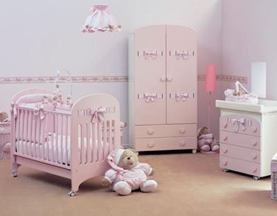 color rosa en habitación bebé