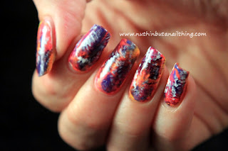 splatter brush manicure nail art