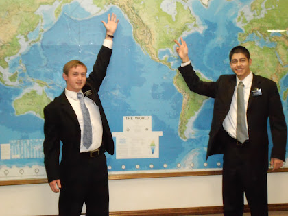 Elder Waddell and Elder Escobar MTC