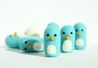 валяные миниатюрные игрушки