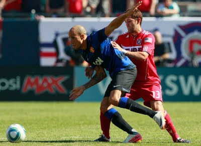 Gabriel Obertan Chicago Fire vs Manchester United