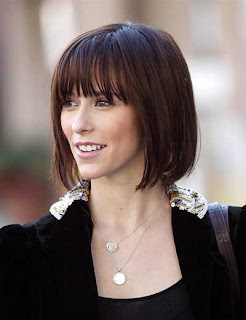 Celebrity Bob Hairstyle with Bangs - 2012 Hairstyle Ideas