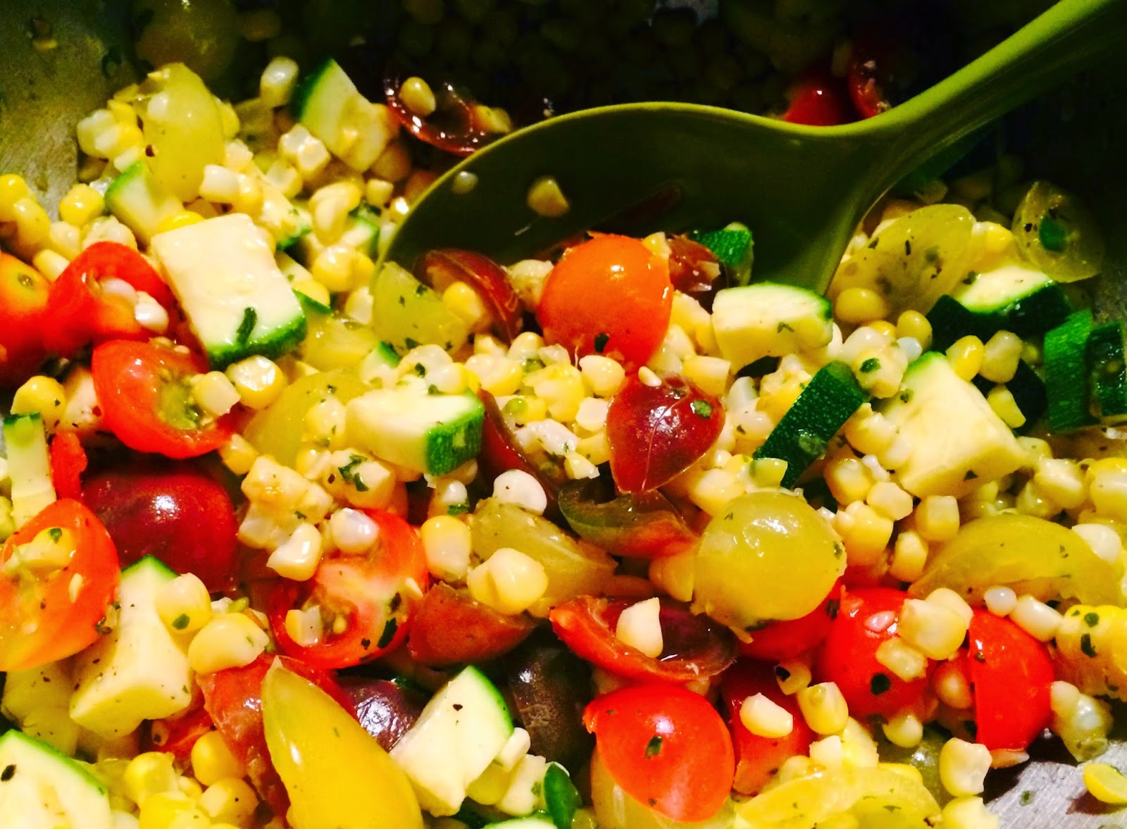 Summer Corn Salad with Smoked Ricotta Dressing