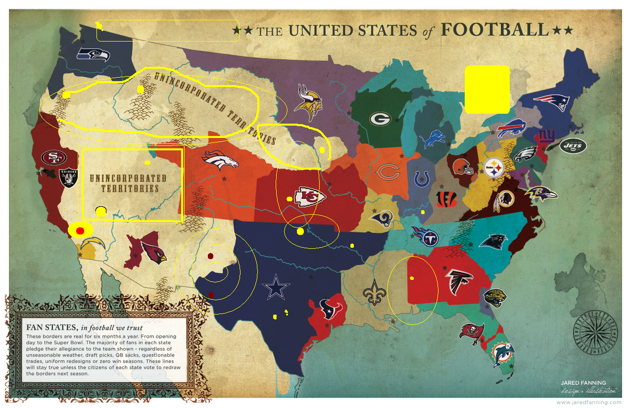 Next Major League Expansion Team My MADdenized Map Of New NFL - Nfl team us map
