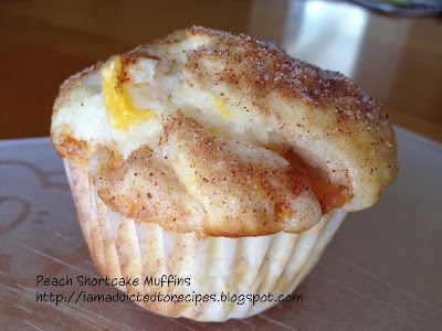 Peach Shortcake Muffins | Addicted to Recipes