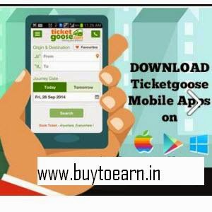 Ticketgoose: Bus Ticket 15% off (Mobile App) , Flat Rs. 299 for few routes on Ticketgoose