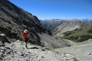 Steep trail to Col du Chaberton