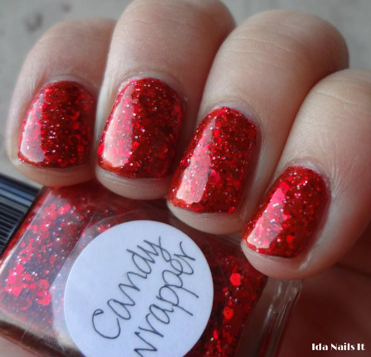 Ida Nails It: Lynnderella Candy Wrapper and Ice the Snowcake