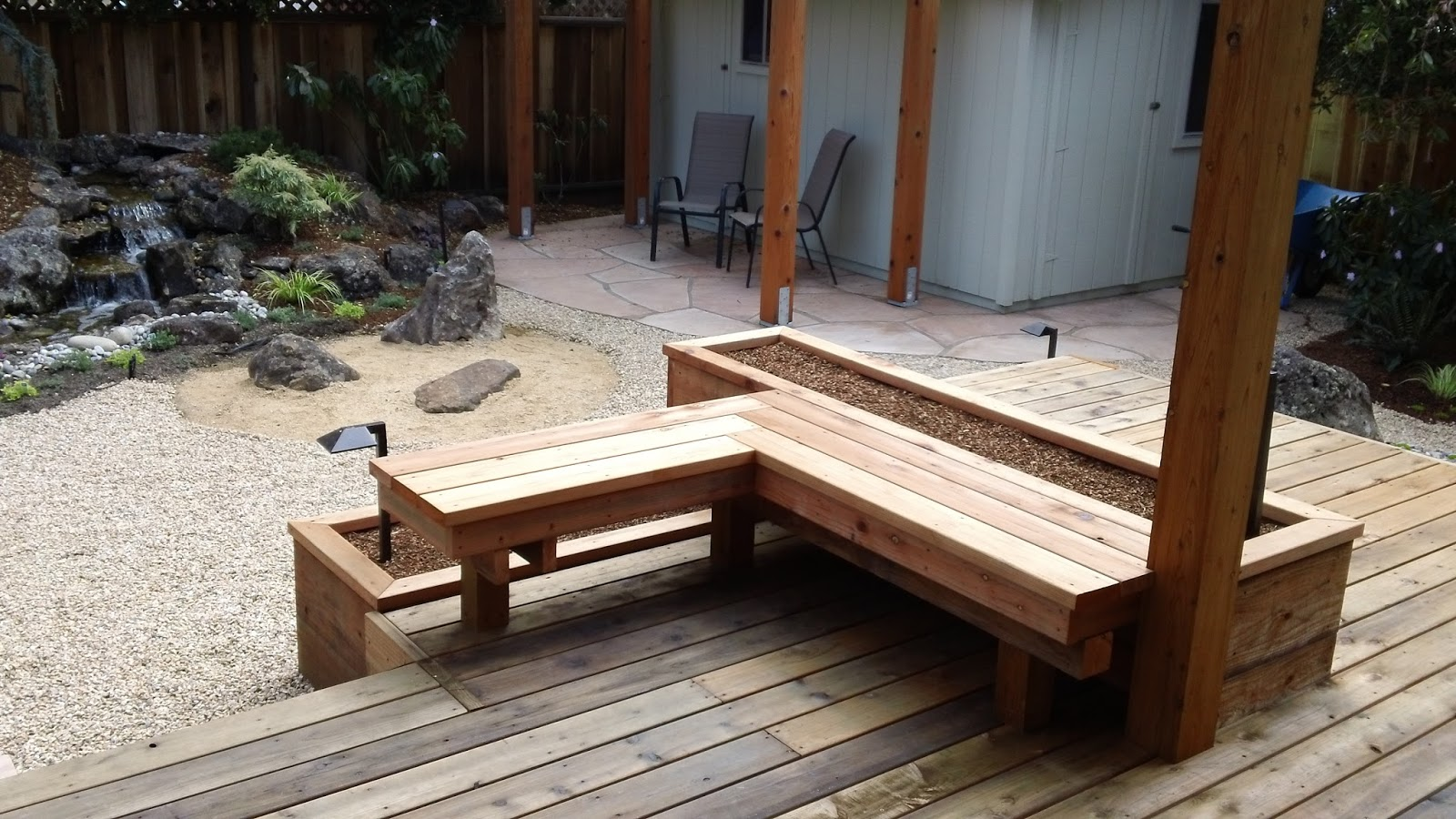 Living waters landscaping asheville japanese gardening for Japanese decking garden