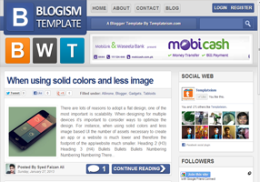 Blogism Blogger Template