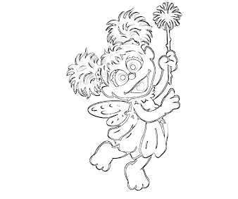 #1 Abby Cadabby Coloring Page