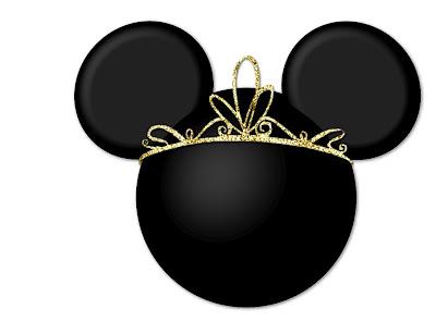 Minnie mouse con corona de princesa disney