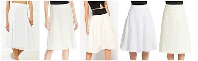 Silence + Noise Flowy Godet Midi Skirt $19.99 (regular $69.00)  Jones New York Half Circle Skirt $28.00 (regular $79.00)  ASOS Midi Skirt in Scuba $38.00 (regular $63.00)  Context Linen Blend A-Link Skirt $39.99 (regular $78.00)  French Connection Space Lace Midi Skirt $62.16 (regular $148.00)
