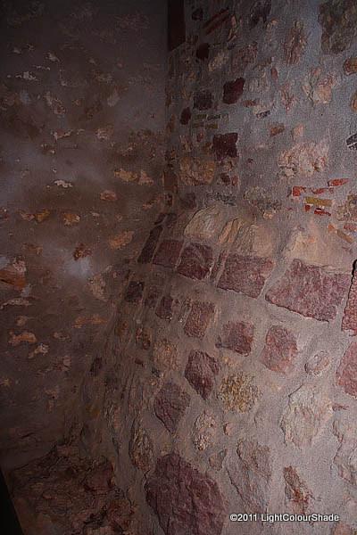Inside an old crypt