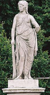 Omphale wearing Hercules' garb.