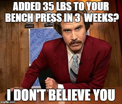 Bench Press Program (Review) - Added 35  lbs in 3 Weeks