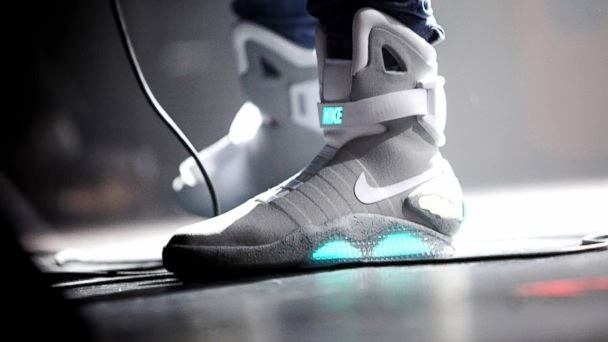 Back to the Future Inspired Nike Power Laces, Nike Power Laces