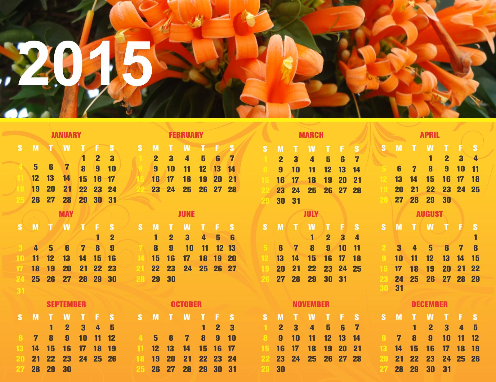 hình nền lịch happy new year 2015