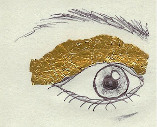 Gold Eye Make-up Illustration