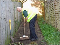 A lengthsman at work in Dorset (photo from BBC)