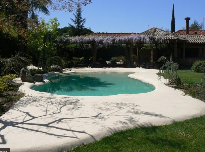 Una playa en casa piscinas de arena interiores por Piscina arena compactada