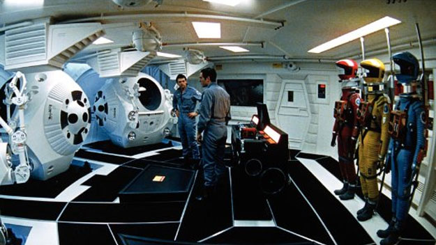 The main pod bay in 2001: A Space Odyssey movieloversreviews.blogspot.com