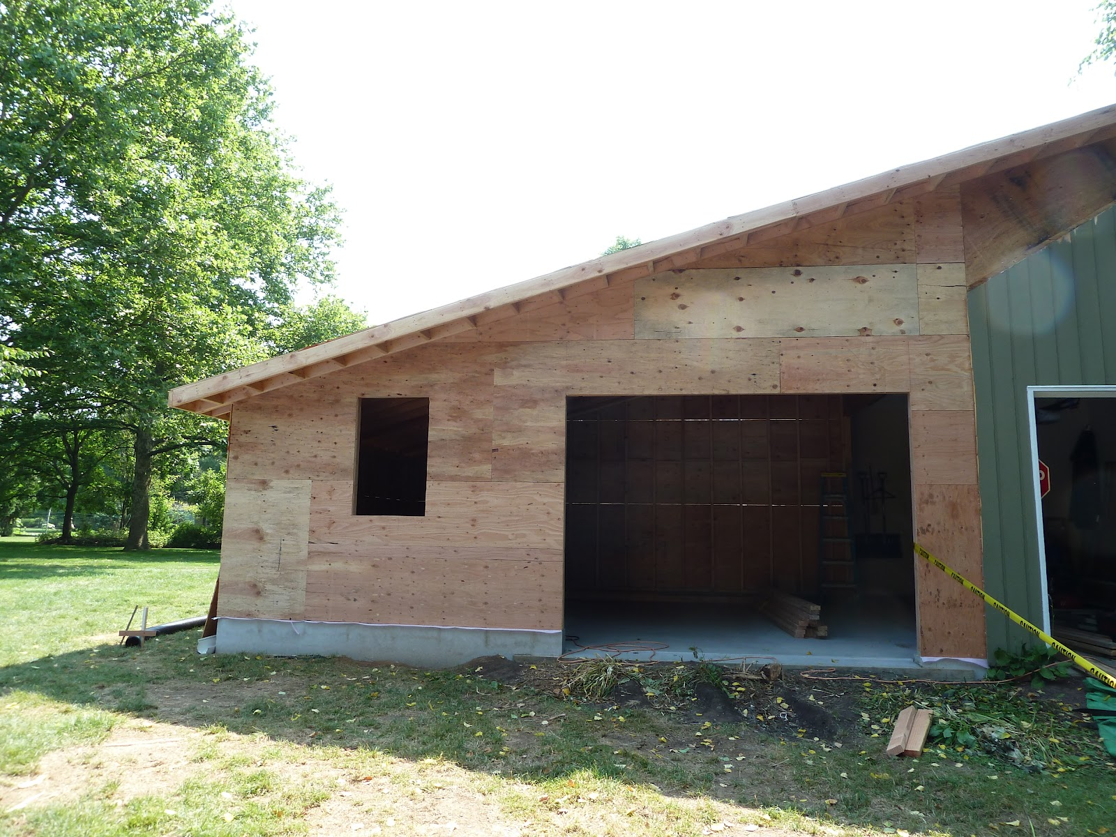 A e construction 39 s blog garage addition part 2 for Garage additions pictures