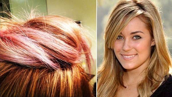 Lauren conrad peach ombre hair