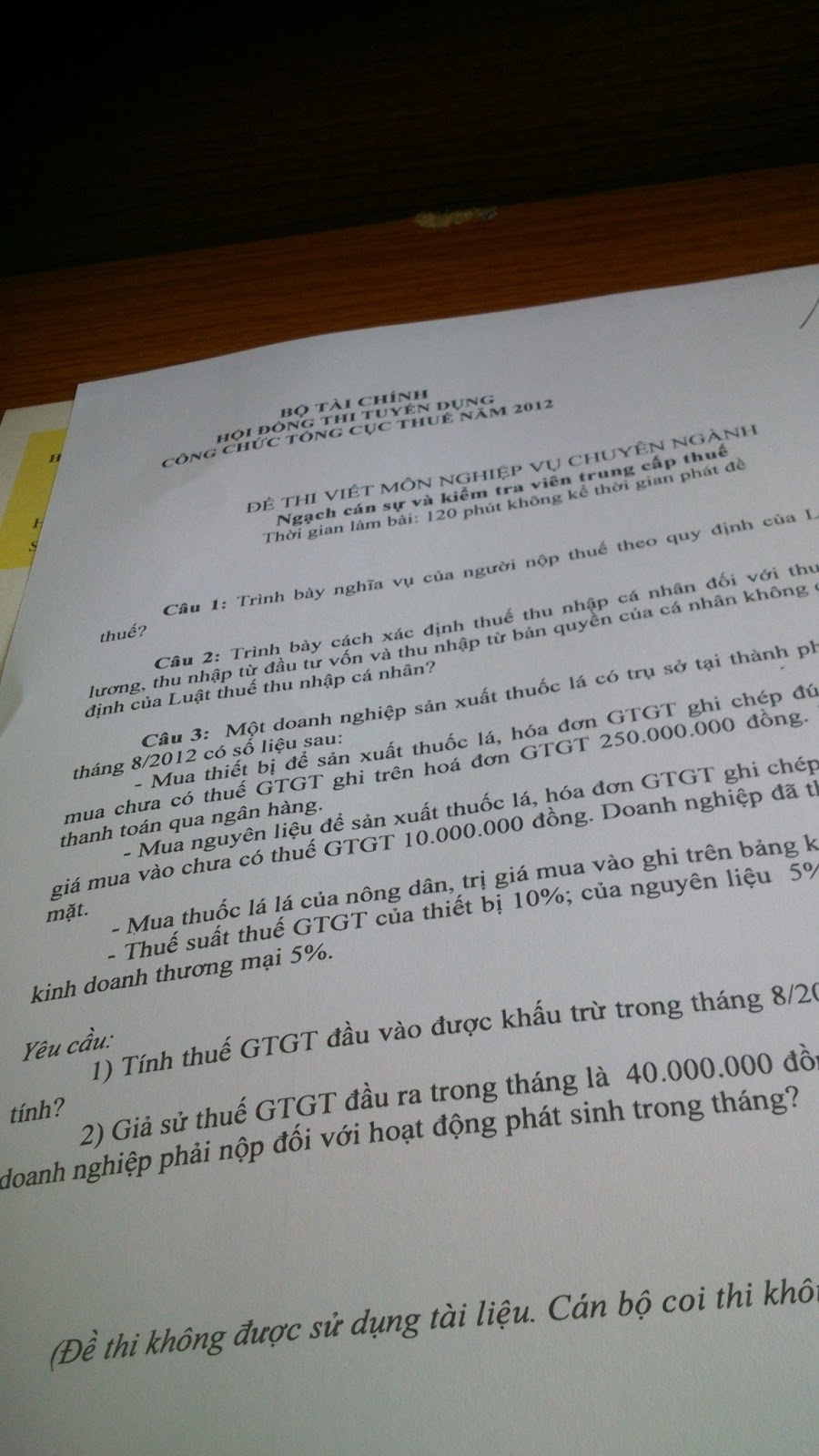 Ket Qua Thi Cong Chuc Tinh Quang Binh Nam 2012
