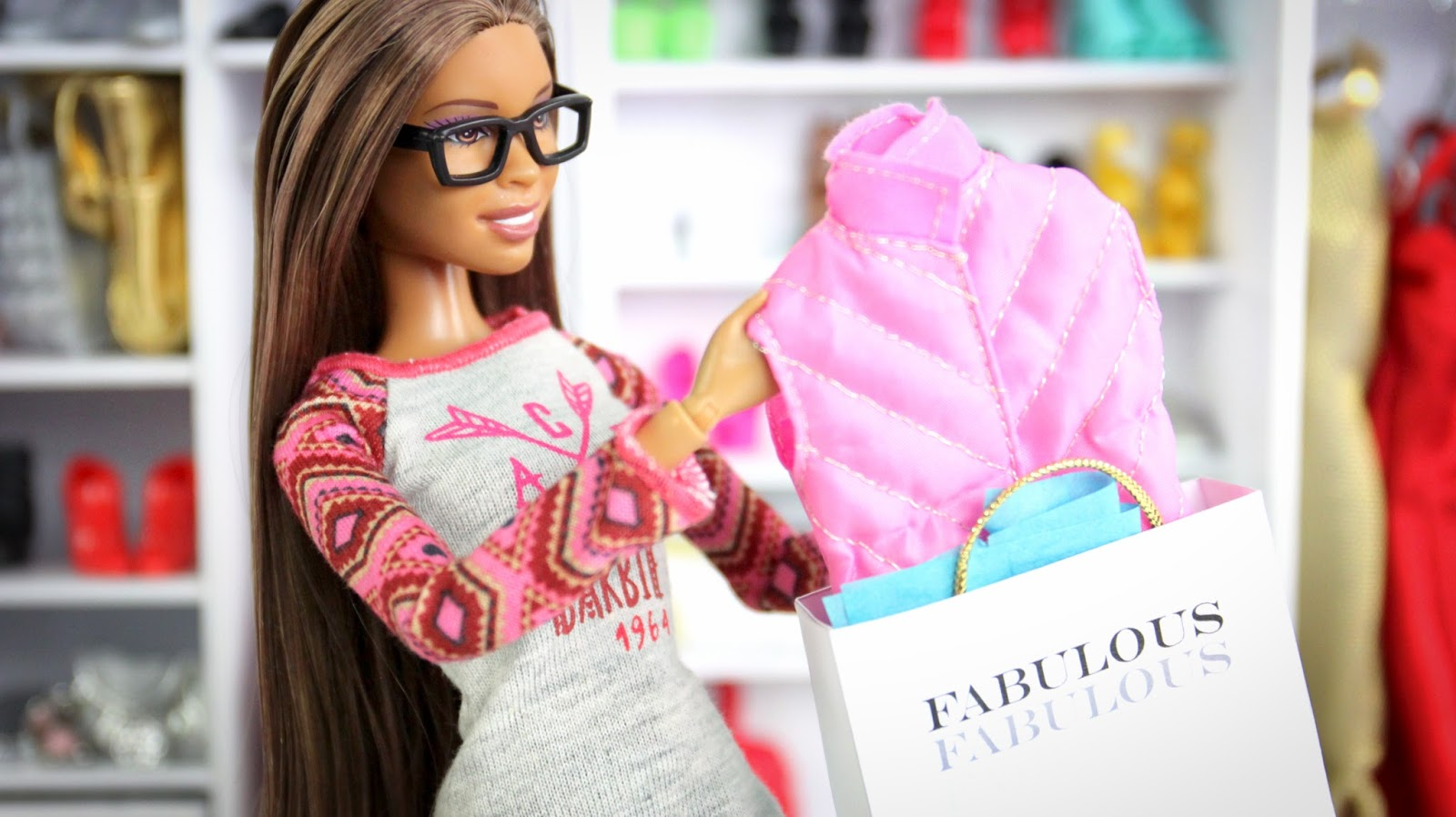 Barbie Fashion Haul | Plus Ripped Jeans And Shopping Bags