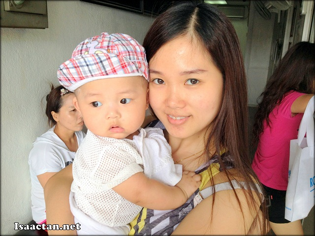 Janice and Baby Martin at the clinic awaiting our turn