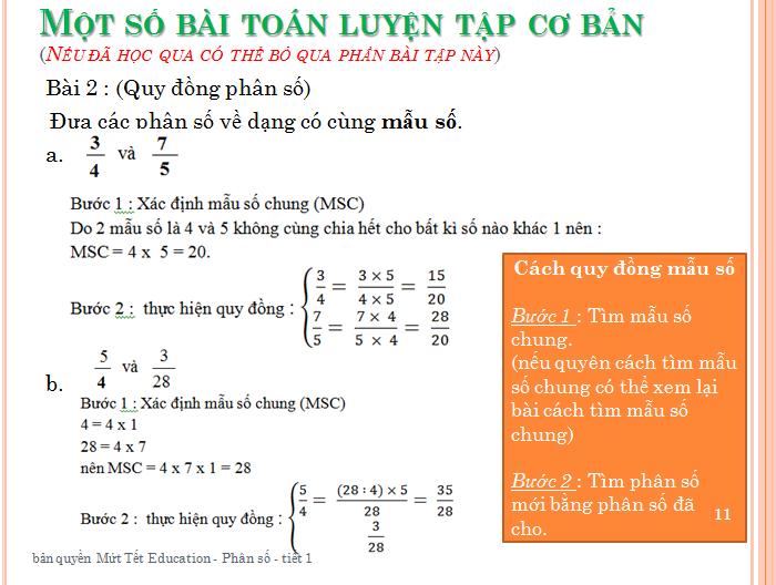 Bài tập phân số toán lớp 5 - rút gọn phân số(11)