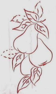 desenho de peras para pintar