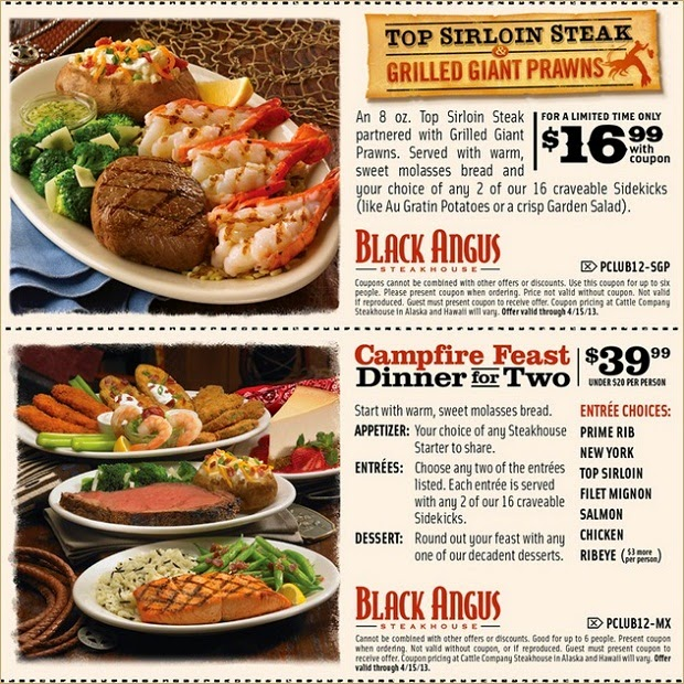 Coupons black angus steakhouse