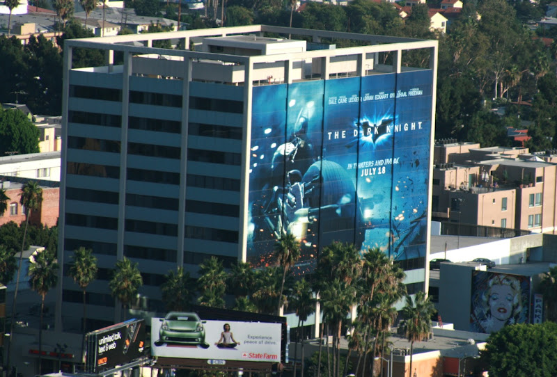 Giant Dark Knight movie billboard