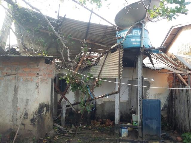 Santarém - Destacamento da PM em Curuaí e devastado por temporal.