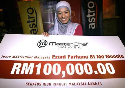 Dr Ezani Farhana Bt Md Monoto Juara MasterChef Malaysia