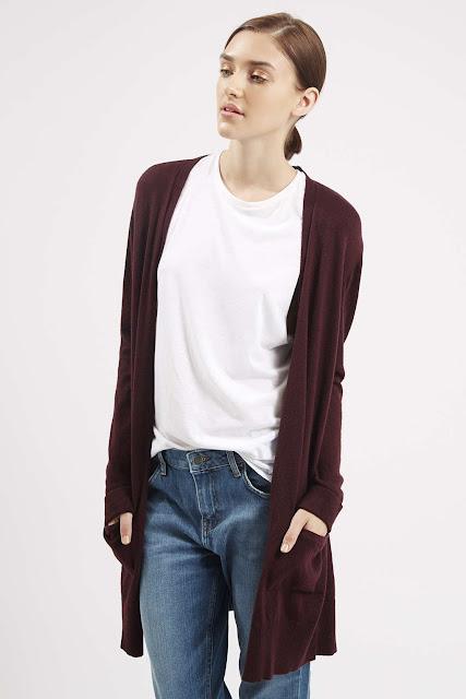 topshop burgundy cardigan, slouchy cardigan, burgundy cardigan,