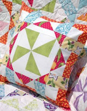Virginia Reel Pillow for Fat Quarterly