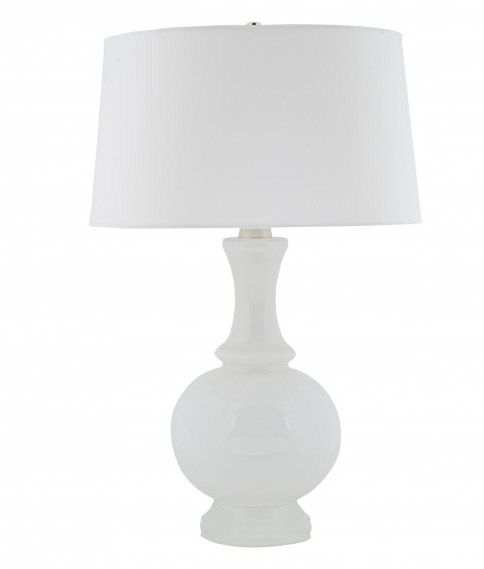 Harriet lamp with white milk base