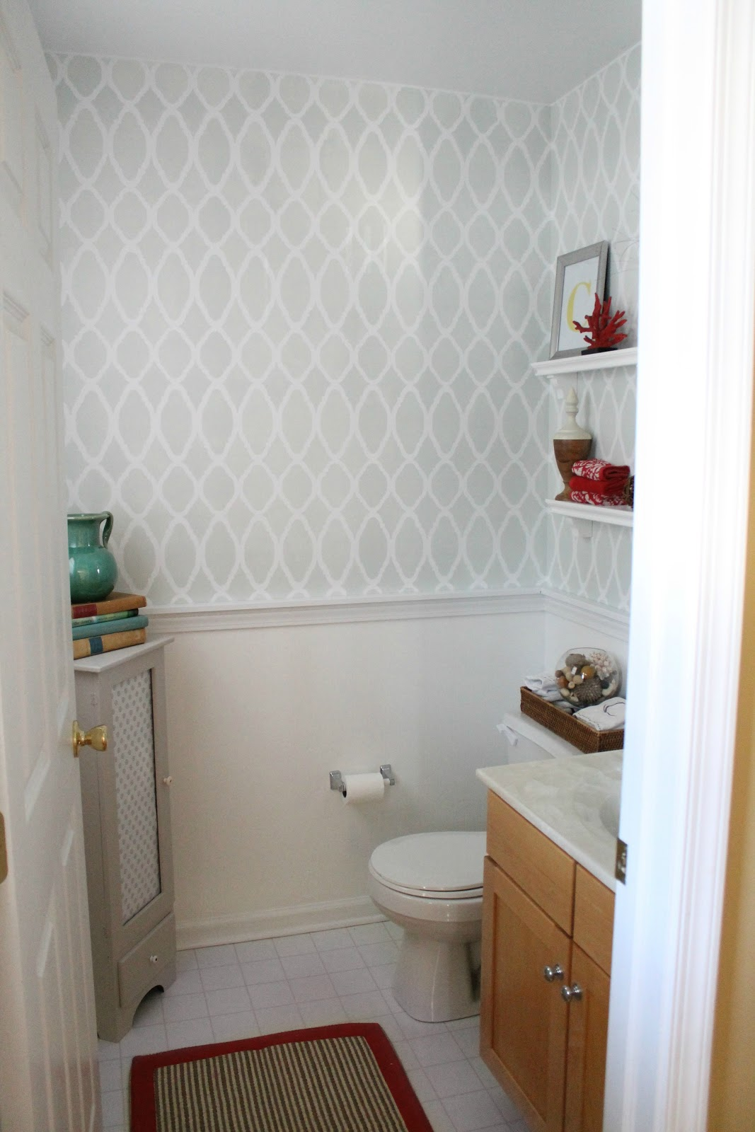 Oak Powder Room Powder Room Redo After Collage Country French Style