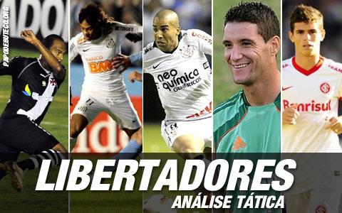 Análise tática dos clubes brasileiros na Libertadores.