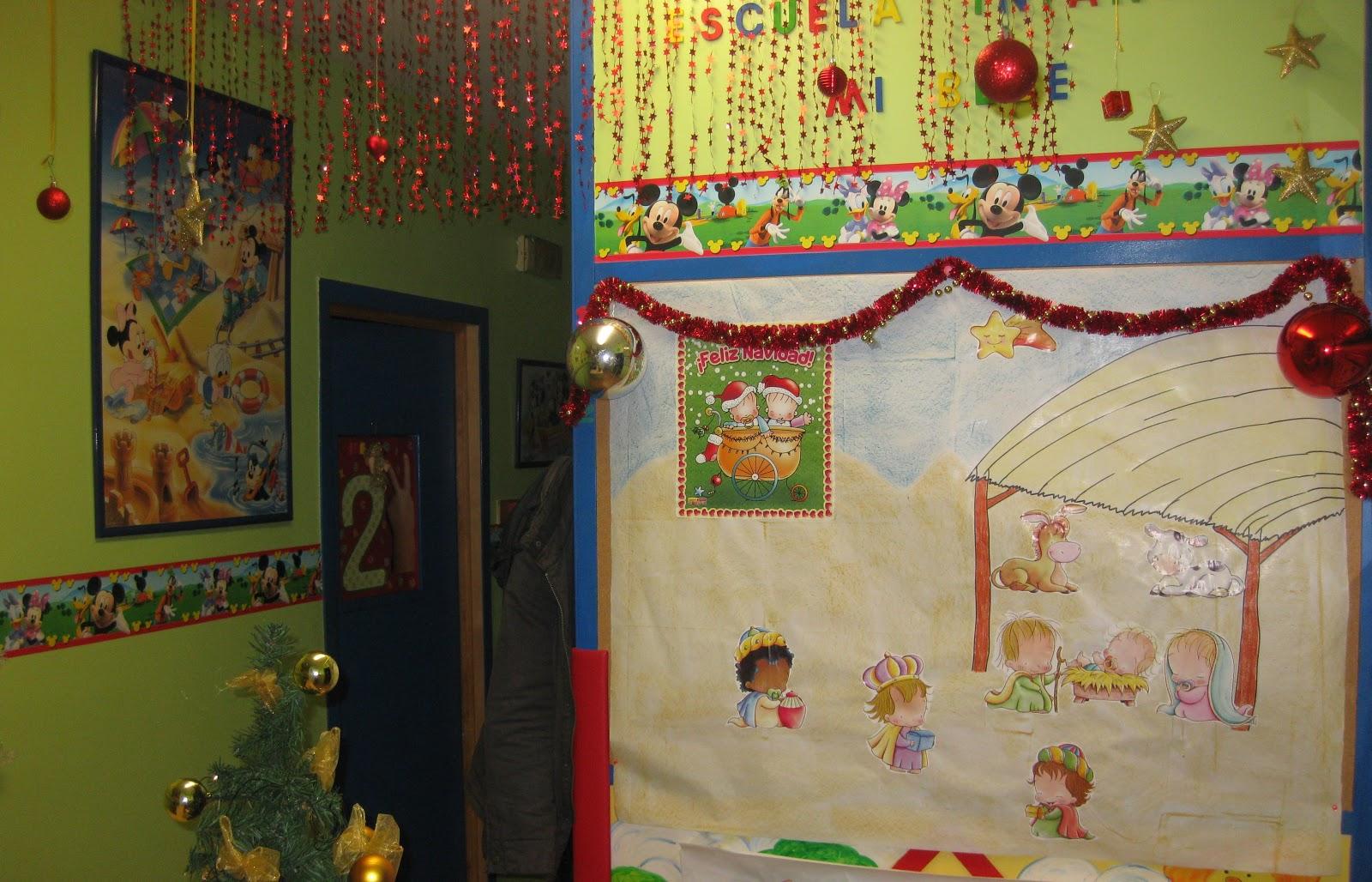 Escuela infantil mi bebe decoraci n de navidad for Decoracion escuela